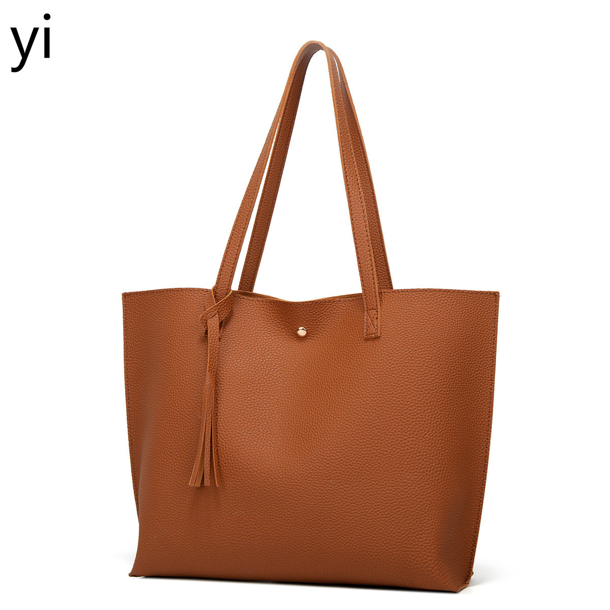 yi  new solid-color sub-daughter bag large-capacity one-shoulder bag stylish shopping bag