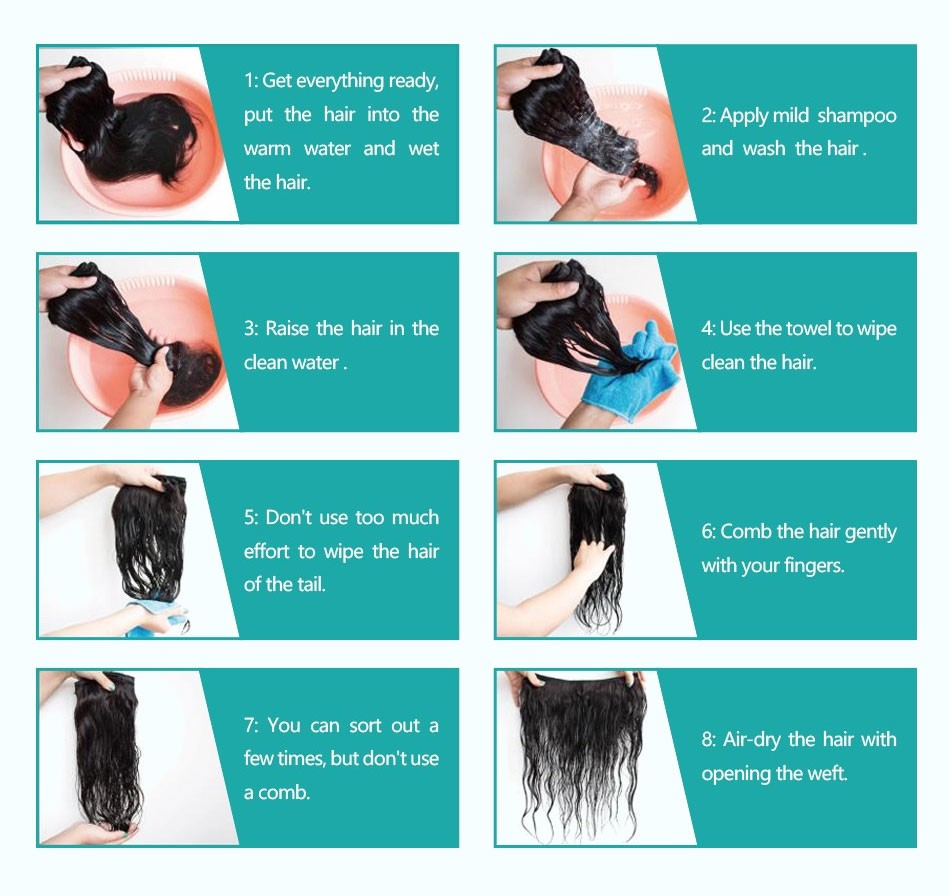 body wave hair weave bundles with frontal_25