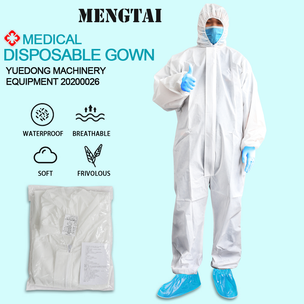 Medical Protective Clothing Coverall Combinaison Virus Isolation Gown PPE Bacteria Proof Anti-pollution Anti-dust Anti-viruses