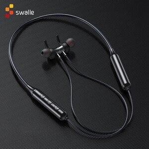 Image 4 - سبل الأصلي سماعات لاسلكية سماعة أذن تستخدم عند ممارسة الرياضة المغناطيسي معلقة بلوتوث 5.0 HD دعوة سماعات الأذن الحد من الضوضاء تحكم بالموسيقى