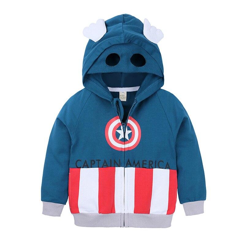 Baby Kids Boy Spiderman Hooded Coat Jacket Sweatshirt Hoodies Casual Sports Tops