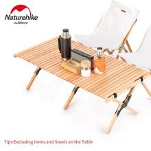 Naturehike طاولة تخييم للطي البيض لفة طاولة خشبية 30 كجم تحمل مثلث مستقر حديقة السفر التنزه شواء اكسسوارات