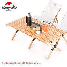 Naturehike Camping Table Folding Egg Roll Wooden Table 30kg Bearing Triangle Stable Garden Travel Hiking BBQ Accessories