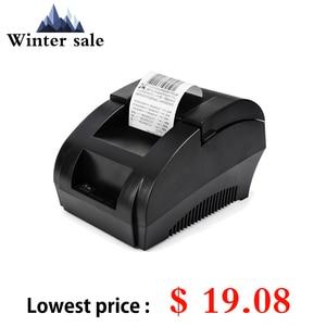 Image 2 - Original ZJ 5890K Mini Printer 58mm POS Thermal Receipt Bill Printer Universal Ticket Printer Support Dot matrix Multi language