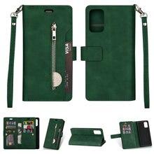 Luxus Brieftasche für Coque Samsung A21S Fall Samsung Galaxy A 21 S 20 A11 A21 A31 A51 A71 A41 EIN 31 2020 Flip Fall A50 A6 A5 A7 2017
