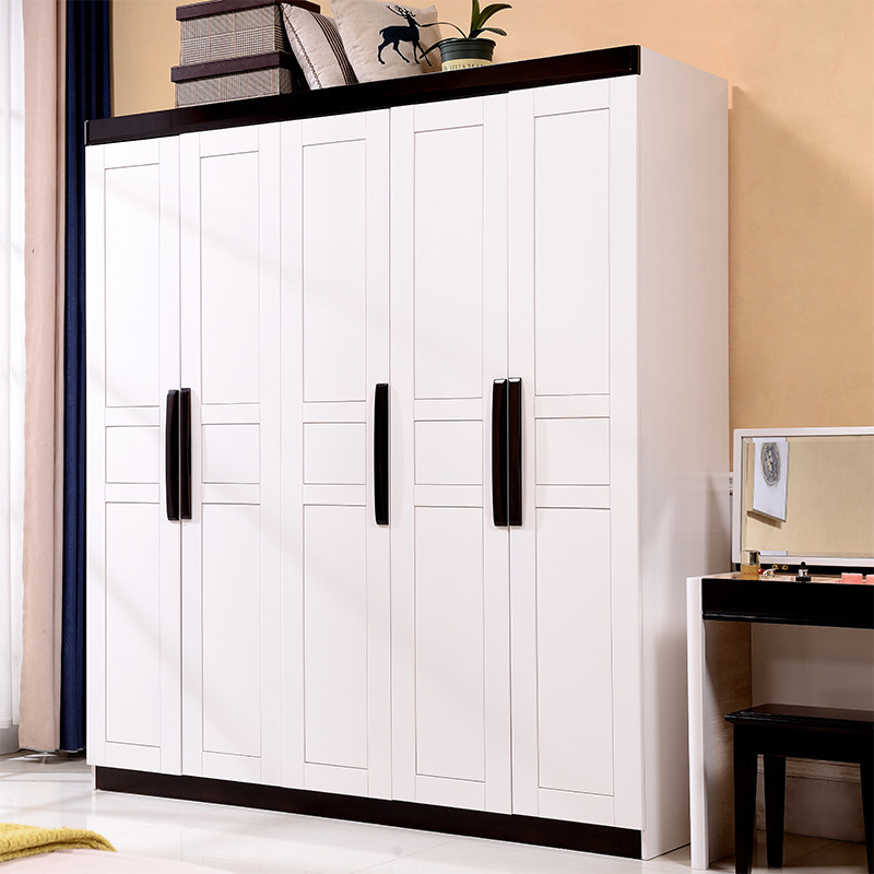 Manufacturers Direct Selling Solid Wood Wardrobe Northern European-Style Modern Minimalist Chinese Style Whole Wardrobe Bedroom