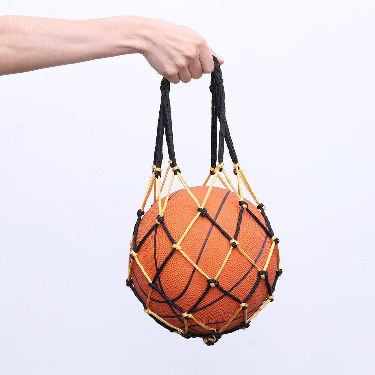 Сверхпрочная баскетбольная сумка, сетчатая нейлоновая сумка для баскетбола на шнурке, Сетчатая Сумка для переноски футбола, сумка для хранения на шнурке для баскетбола-1