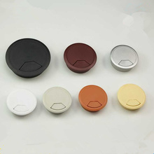 Desk-Table-Grommet Storage-Rack Furniture Wire-Hole-Cover Computer ABS 2pcs Hardware