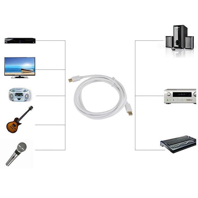 Mini DP Macho para Macho Cabo de Extensão de 1.8M para Macbook Notebook PC Acessórios AS99