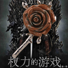 Wholesale American Drama Game of Thrones Fashion Beautiful Rose Flower Brooches Hot Song of Ice and Fire rose flower pin brooch hot sale 216 autumn winter game of thrones sweatshirt men house stark mens thick jacket a song of ice and fire winter is coming