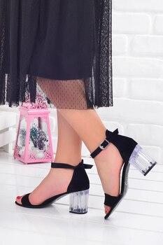 Ayakland 6470-06 Skin Transparent 7 Cm Heel women 'S sandals Shoes women's sandals , Platform Sandals, sandals women