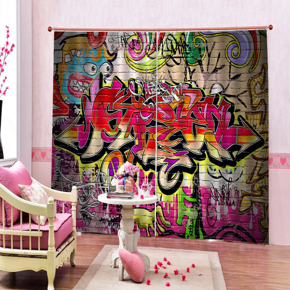 Special Offers Curtains Graffiti Ideas And Get Free Shipping A10