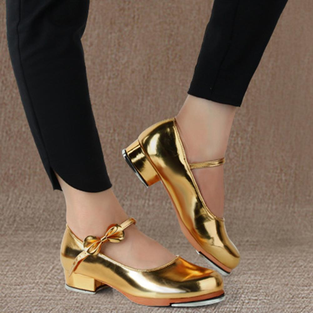 Black And Gold Tap Shoes Women Girls