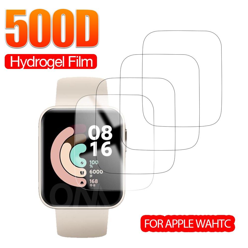Полная защита экрана для Xiaomi Redmi Watch & Mi Smart Watch Lite мягкая Гидрогелевая защитная пленка аксессуары (не стекло