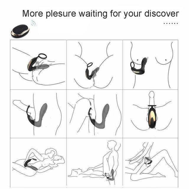 10 Mode Wireless Prostate Massager for Men