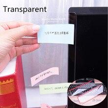 Venta caliente placa adhesiva transparente Monitor mensaje pegatina ordenador Monitor notas laterales tablero