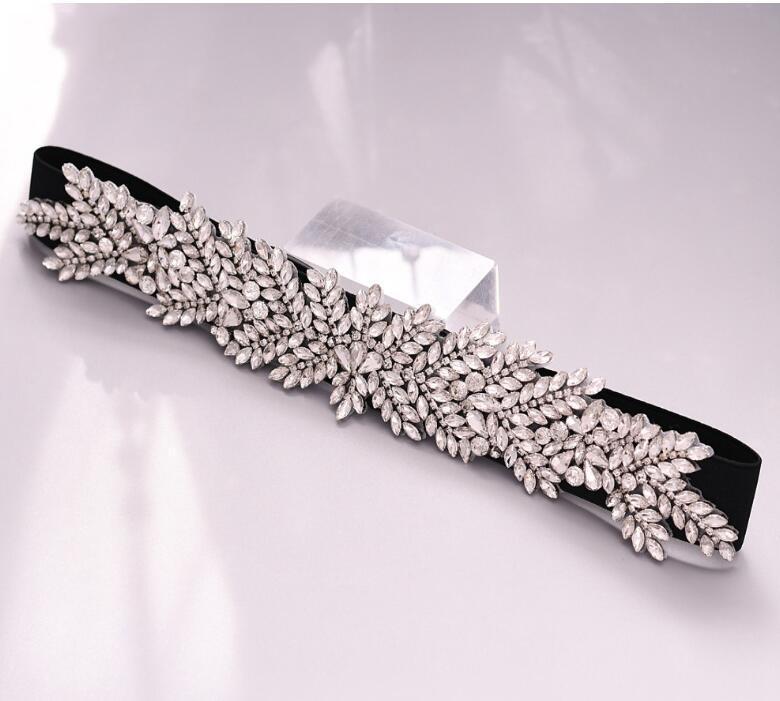 Crystal Rhinestones Bridal Belt Luxury Wedding Belts Sash White Ivory Champagne Ribbon For Women Party Dress Bride Jewelry