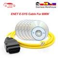 E-SYS ENET для BMW F-series ICOM OBD2 кодирования диагностический кабель Ethernet to OBD YDL для передачи данных по каналам OBDII E-SYS кодирования Скрытая ENET средство ...