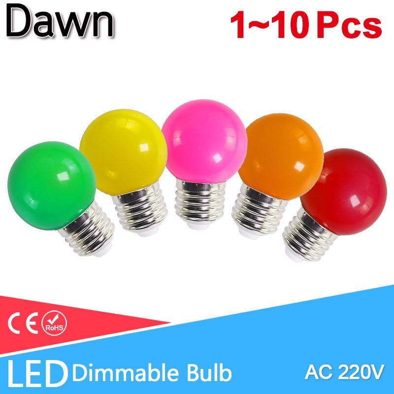 Led Bulb E27 3W Led Lamp Bomlillas Globe Lampada Colorful RGB Led Light  AC 220V SMD 2835 Flashlight G45 Led Bulbs Home Light