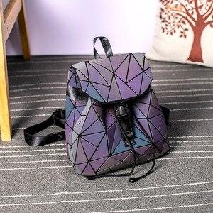 Image 3 - DIOMO Small Backpack Women Holographic Sequin Female Backpacks for Teenage Girls Bagpack Drawstring Bag Designer Korean Style