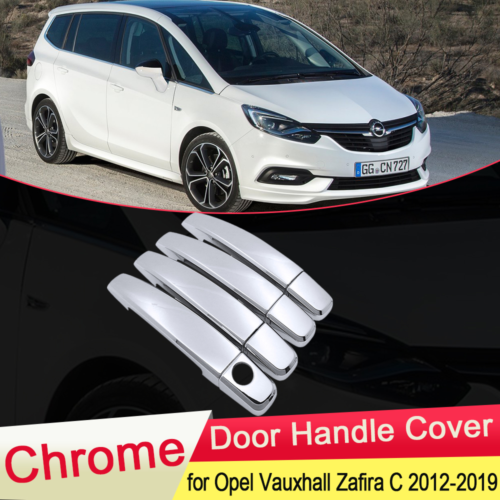 for Opel Vauxhall Zafira C Tourer Present 2012~2019 Chrome Door Handle Cover...