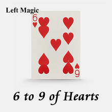 6 To 9 Hearts Magic Tricks Playing Cards Poker Magic Trick Close Up Street Illusion Gimmick Mentalism Puzzle Toy Magia Card