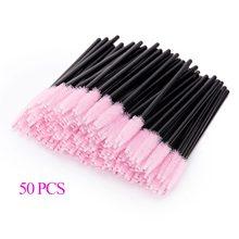 50 Uds pinceles de maquillaje cepillo de pestañas varas para máscara de pestañas desechables aplicador de pestañas cosmético cepillos de maquillaje para herramienta de maquillaje