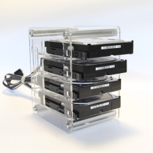 Support transparent d'extraction de disque dur SATA SAS, avec support d'extraction de disque dur, NAS, 4x3.5\