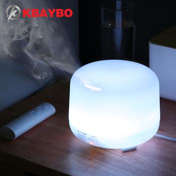 KBAYBO 300ML elektryczny powietrza ultradźwiękowy nawilżacz usb olejku aromaterapeutycznego rozpylacz zapachów z pilot zdalnego sterowania 7 kolorowe światła tanie i dobre opinie 1L 36db Mgła absolutorium Aromaterapia Household Klasyczne kolumnowy 21-30 ㎡ Manual Nawilżania LFGB RoHS K-H270
