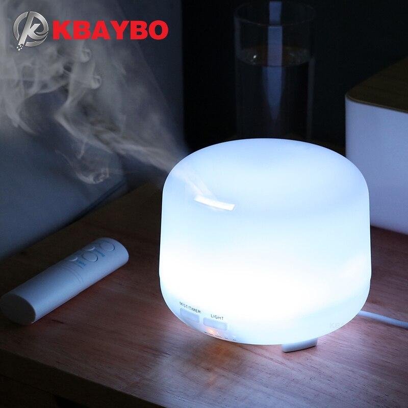 Kbaybo 300 ml elétrica umidificador de ar ultra sônico usb aromaterapia difusor aroma do óleo essencial com controle remoto 7 luzes cor