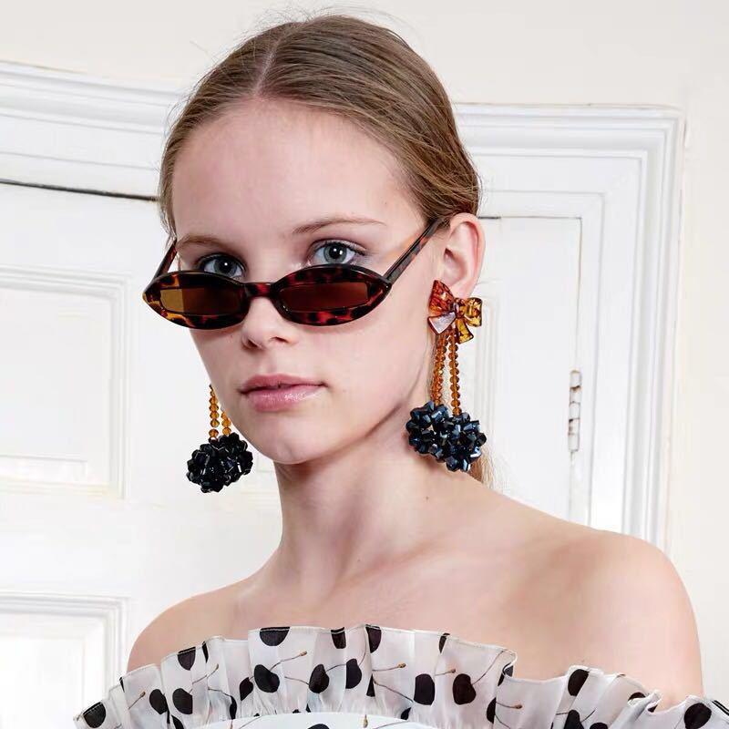 Boucles d'oreilles en cristal faites à la main mode INS piste concepteur marque européenne Collection cadeau filles parti européen boucles d'oreilles goujon