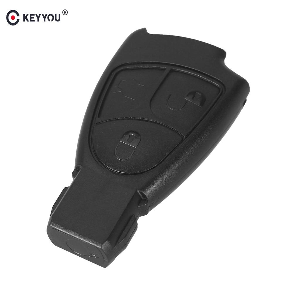 KEYYOU yedek araba anahtarı durum 3 düğme kabuk Mercedes Benz C E ML S CLK CL 3B 3BT akıllı uzaktan anahtar Fob Shell kapak