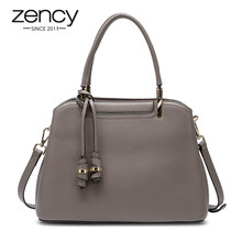 Zency Retro Brown Women's Handbag Made Of Genuine Leather Hi
