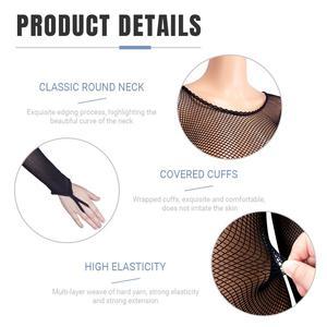 Image 5 - Latin Full Body Jumpsuits Professional Fishnet Ballroom&Latin Dance Hard Yarn Elastic Latin Stockings Pantyhose