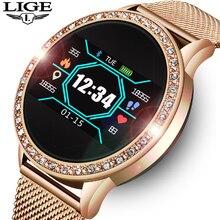LIGE женские Смарт-часы для женщин кровяное давление монитор сердечного ритма фитнес-трекер спортивный умный Браслет Будильник Напоминание Smartwatch