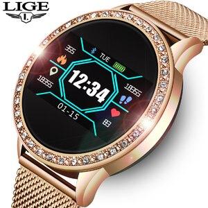 LIGE Ladies Smart Watch Women Blood Pres
