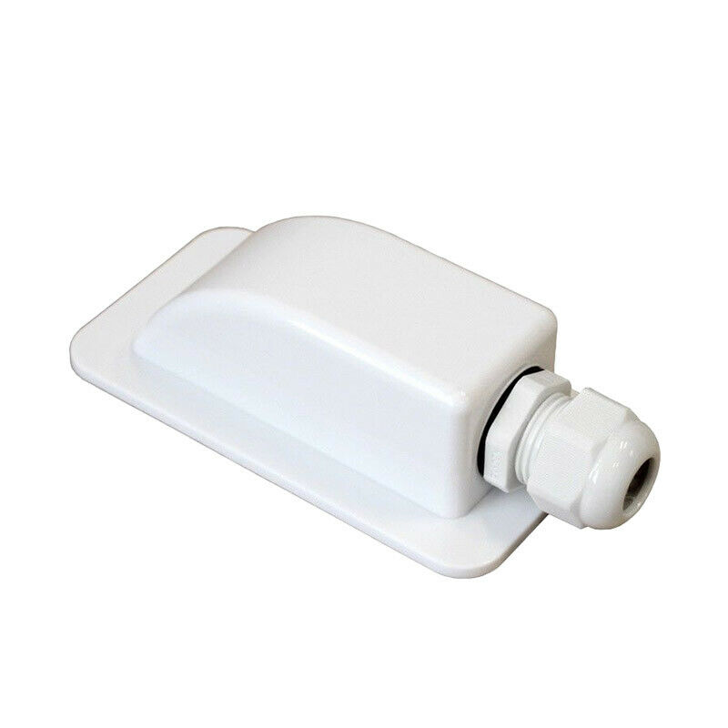 Solar Panel Single Cable Entry Gland Housing For Motorhomes Boats Camper White
