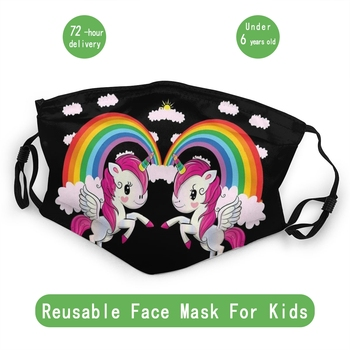 Unicorn Twin Child Non-Disposable Face Mask Anti Haze Dust Mask Protection Cover Respirator Mouth Muffle