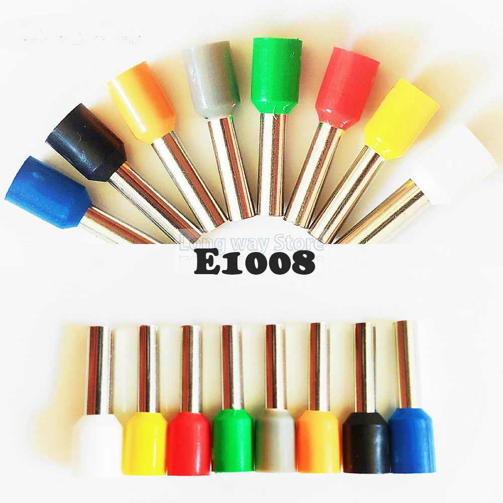 E1008 絶縁圧着端子接続 100 個チューブ絶縁コードエンド端末 1.0 ミリメートルケーブルコネクタワイヤー端子絶縁