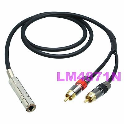 DHL/EMS 10 LOTS CANARE Y Cable L-4E6S 6.35mm Jack Stereo TRS To 2x RCA TV Plug Mono TS L+R -d2
