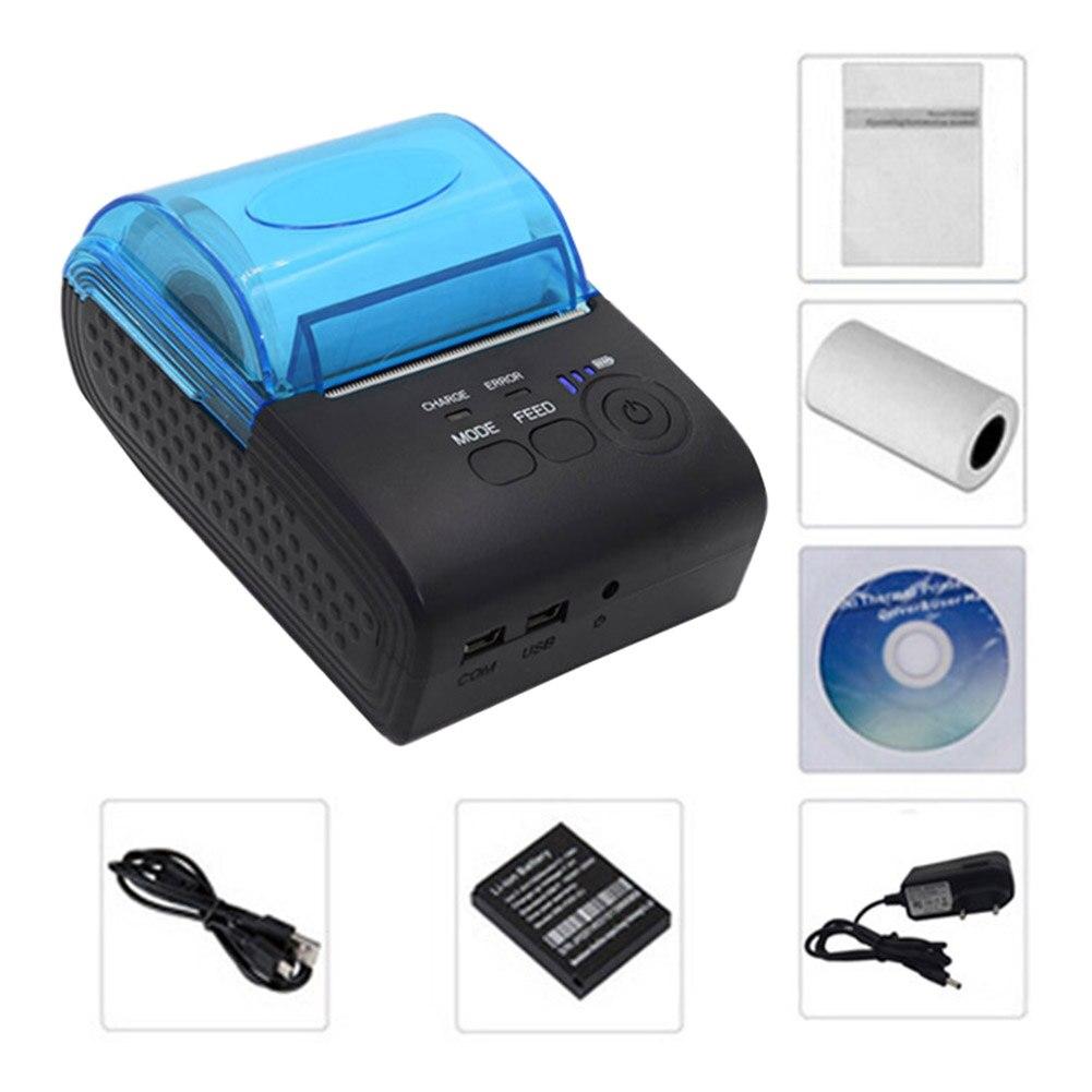 Billet de 58mm pour le reçu de supermarché grand entrepôt de papier Bluetooth 4.0 USB Mini imprimante thermique sans fil personnelle portative