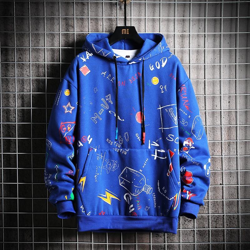 Image 4 - Мужская толстовка с капюшоном SingleRoad, желтая Толстовка в стиле хип хоп, Японская уличная одеждаТолстовки и свитшоты   -