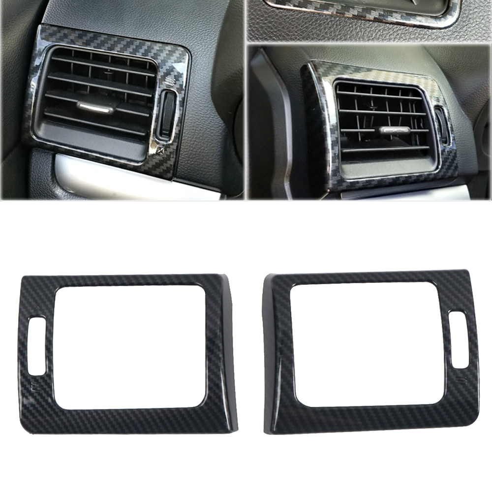 HIGH FLYING for Subaru WRX STi 2015-2019 Car Accessories Side Door Handles Cover Trim Carbon Fiber Grain ABS 8pcs