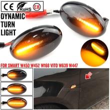 2 adet Benz akıllı W450 W452 A sınıfı W168 Vito W639 W447 Citan W415 LED dinamik yan işaretleyici işık tekrarlayıcı gösterge ışığı