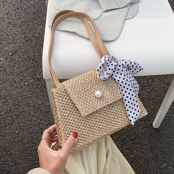 DikizFly Fashion Woven Bags Small Straw Flap For Women 2020 Summer Shoulder Bag Ladies Travel Purse And Handbags Female Sac