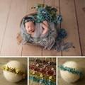 Цветочная Детская повязка на голову, фотография, гирлянда, аксессуары для детской съемки, студийная повязка для волос, реквизит для фотосъе...