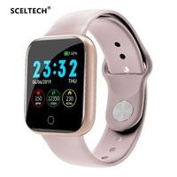 Sceltech i5 relógio inteligente à prova dwaterproof água monitor de freqüência cardíaca fitness rastreador pedômetro chamada lembrete esporte relógio para iphone xiaomi Relógios inteligentes     -