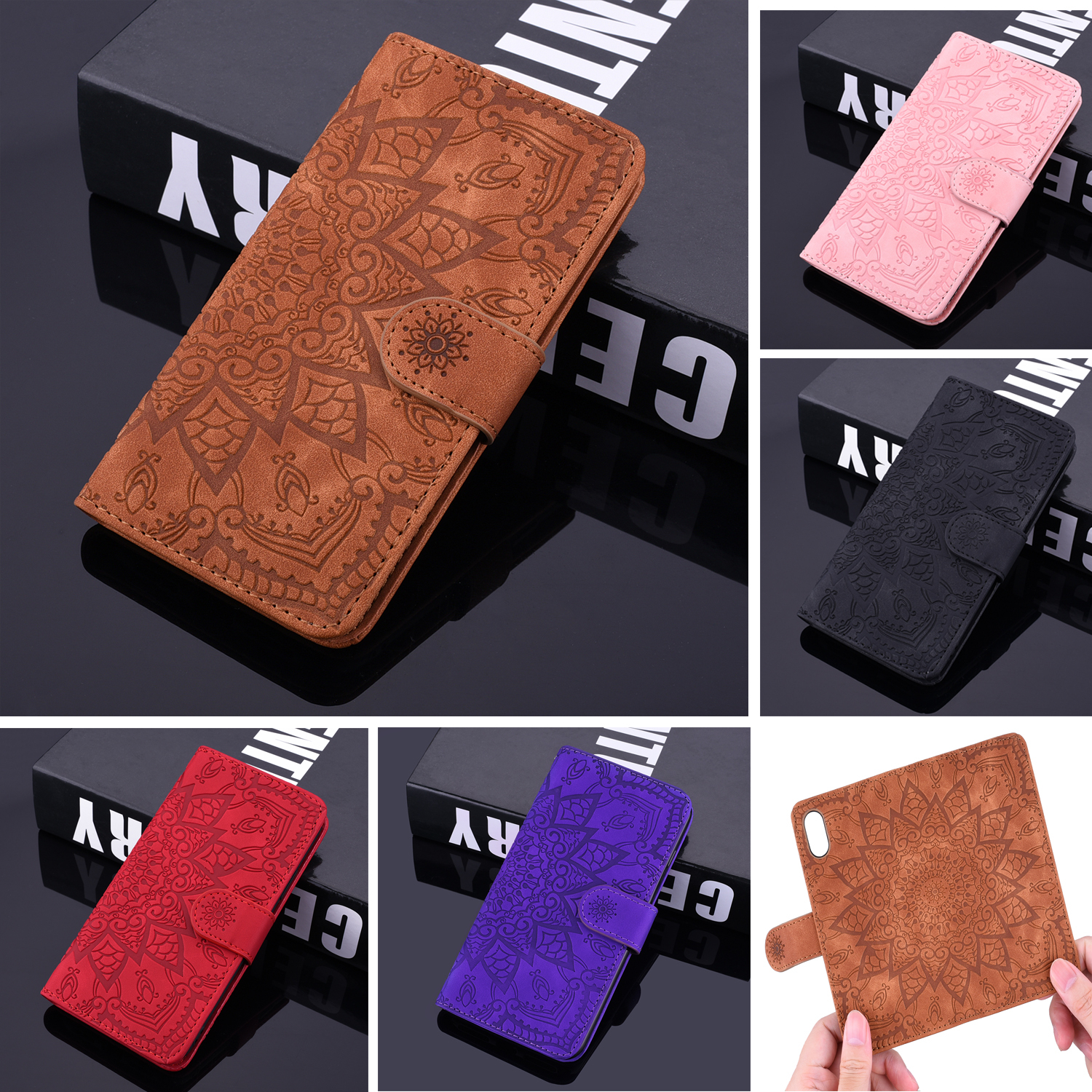 3D Flower Leather Case For Samsung Galaxy A50 A70 A30 A20 A40 A10 A750 A80 A90 J3 J5 J7 A5 A6 A7 A8 A9 J6 J4 Plus M30S Coque
