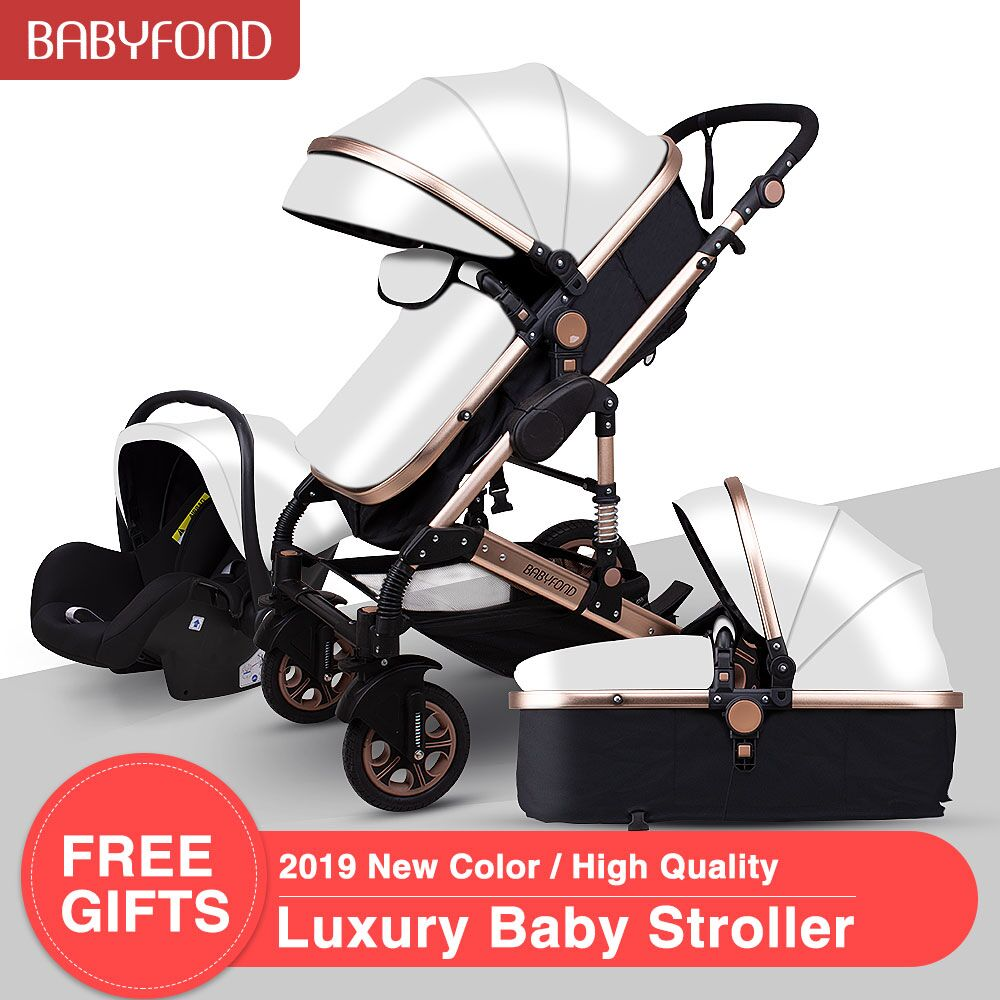 Latest High Quality EU Standard  Baby Stroller 3 In 1 With Car Seat High Landscape Folding Baby Carriage 0-3 Years Prams Newborn