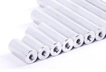 10 varillas redondas de aluminio Dia.10 * M6 * 10/12/15/20/25/30/35/40/50/60/80mm tornillos espaciador de separación de aleación de aluminio para piezas de control remoto